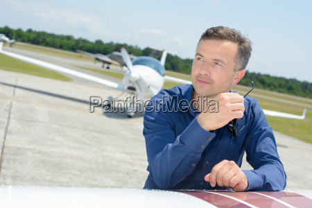 man an plane