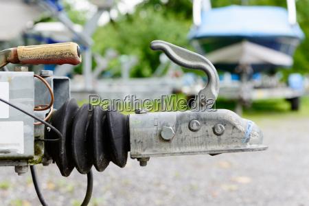 close up fuer boote anhaengerkupplung