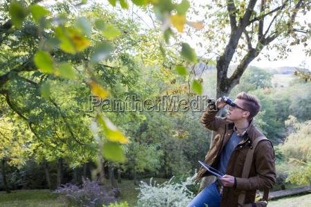 analysing nature with binoculars