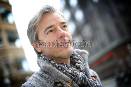 portrait of attractive mature man in
