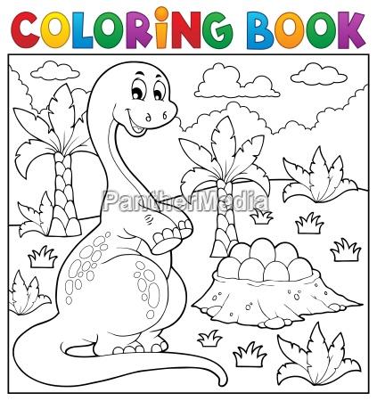 malbuch dinosaurier thema 8