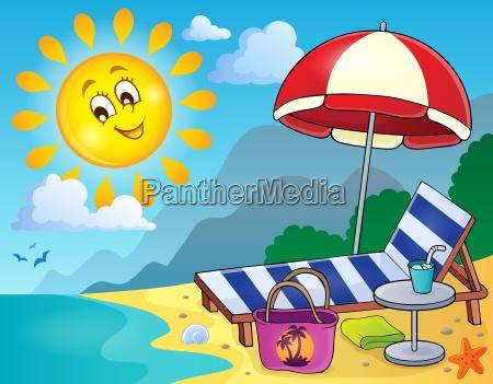 sonnenliege am strand bild 1