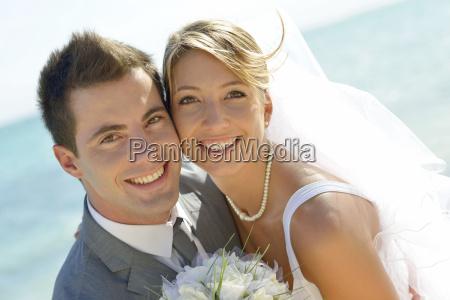 portraet des ehepaars vom strand