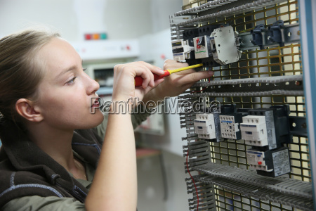 young woman in professional training setting