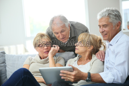 group of retired people sitting in