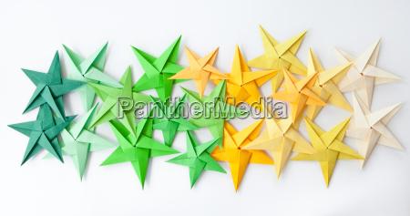 bunte origami sterne