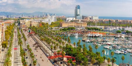passeig de colom in barcelona u200bu200bkatalonien