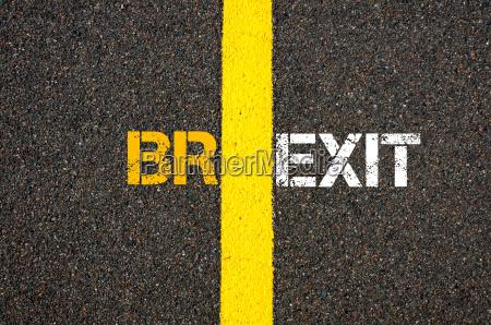 konzept von brexit grossbritannien versus eu