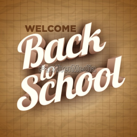 vector back to school text on