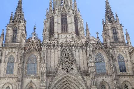 details der kathedrale von barcelona im