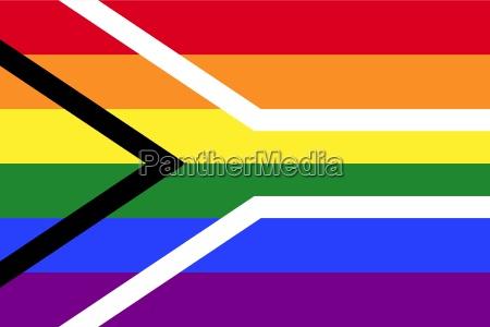 gay stolz flagge suedafrikas