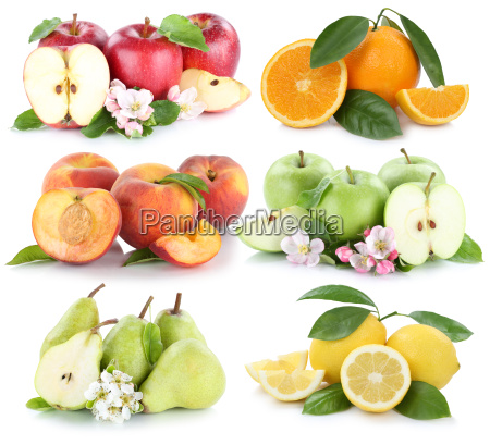fruit apple orange lemon peach apples