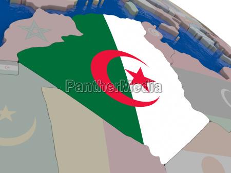 algerien mit flagge