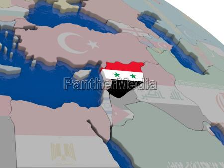 syrien mit flagge
