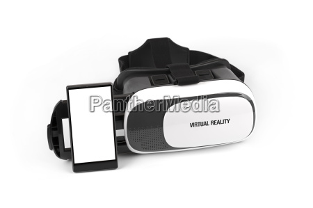 virtual reality brille mit handy isoliert