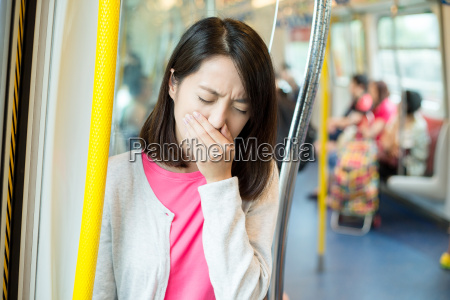 asian woman suffer from sick inside