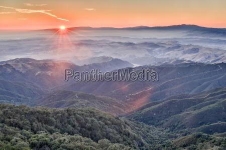 sonnenuntergang am fremont peak state park