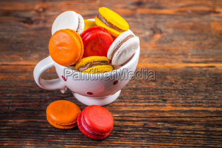 franzoesisch bunten macarons
