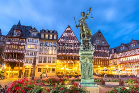 frankfurt alt sonnenuntergang stadt