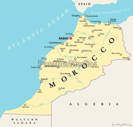 marokko politische karte