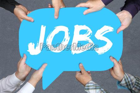group people holding jobs job work
