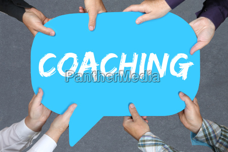 group people hold coaching consulting training