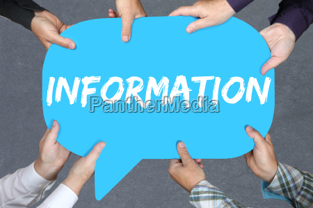 gruppe menschen halten information info infos
