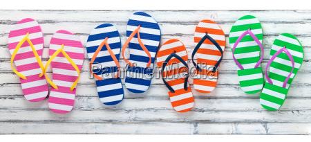bunte flip flops