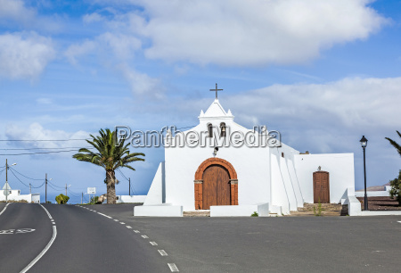 spain canary islands lanzarote pretty whitewashed