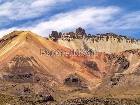 beautiful crater of volcano