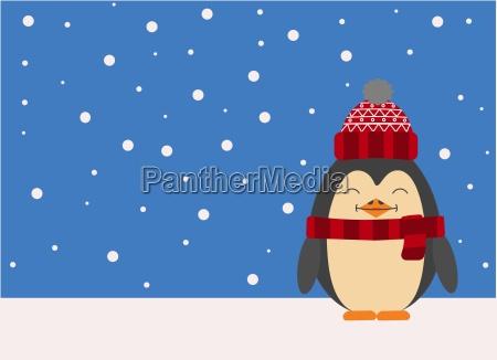 grafik eines pinguin der sitzt laechelnd