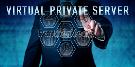 administrator pressing virtual private server