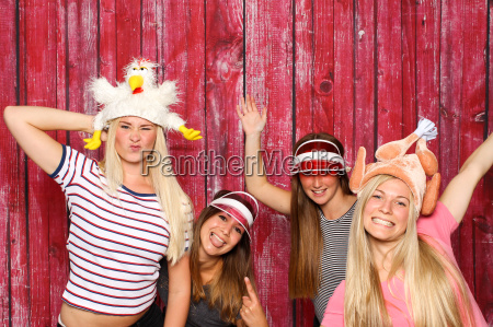 crazy chickens at a party