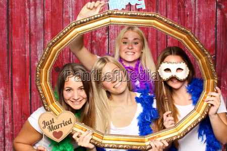 wedding party in front of a