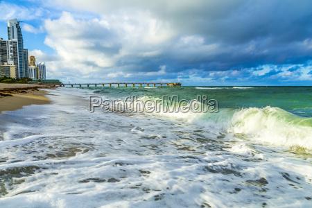 pier at sunny isles beach in