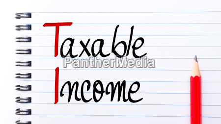 ti taxable income written on notebook