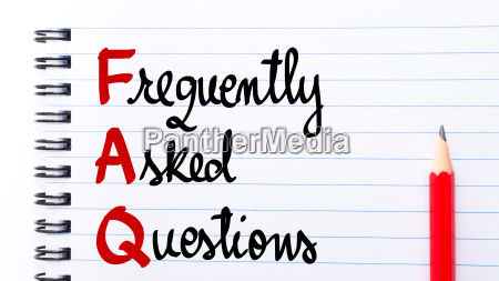 faq frequently asked questions written on