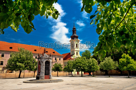 town of karlovac square architecture and