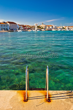 town of vodice view from beach