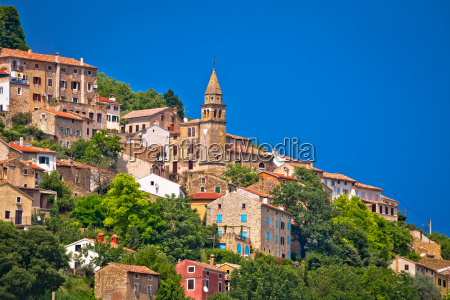 stadt motovun alten mediterrane architektur