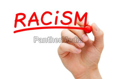 rassismus rotes markierungs konzept