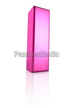 rosa buchstabe i
