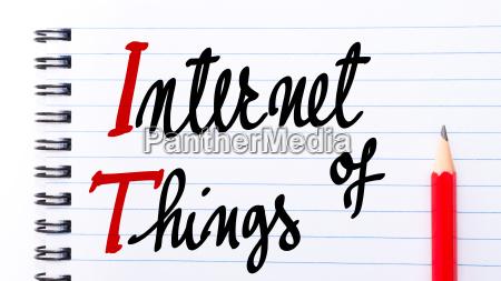 it internet of things written on