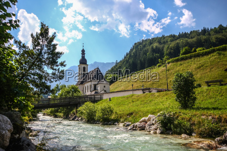 ramsau berchtesgaden bayern oberbayern kirche pfarrkirche