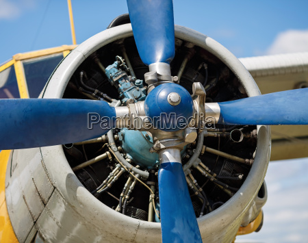 airplane propeller close up