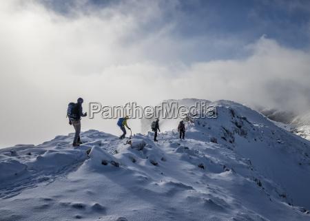 scotland glencoe stob dearg mountaineering in