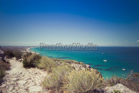 spain formentera mediterranean sea view from
