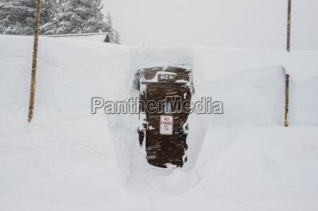 bathroom for men at crater lake