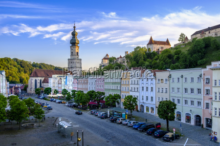 germany bavaria burghausen townscape