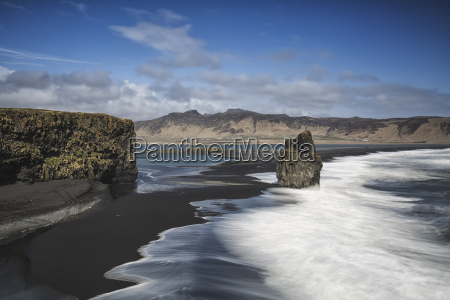 island vik dyrholaey halbinsel schwarzer strand